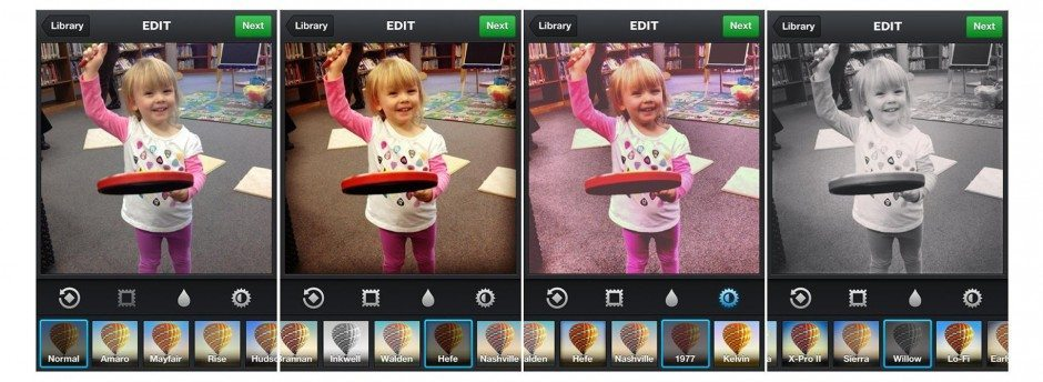 Fig. 1: Examples of Instagram filters.